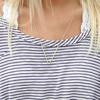 Morro Bay Gold And Silver V Pendant Necklaces