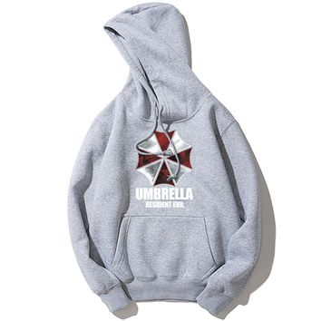 Hot Game Resident Evil Umbrella Corporation Mens Hoodies Hipster Street Jacket Casual Sweatshirt Coat Hip Hop Style Men Hoody
