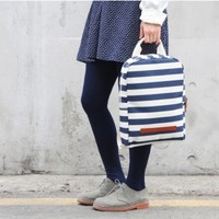 Pattern Canvas Backpack