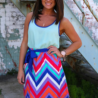 Smitten in Chevron {Dress}