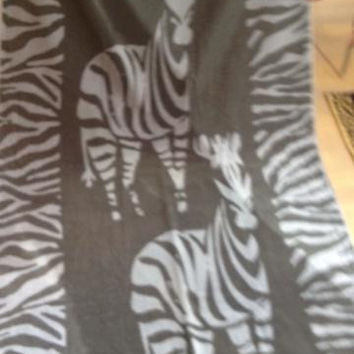 """Zebra"" 40x70 Egyptian Cotton Beach Towel"