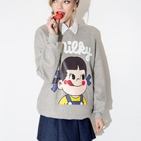 Milky Grey Sweatshirt