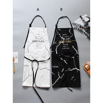 1pc Marble Pattern Apron