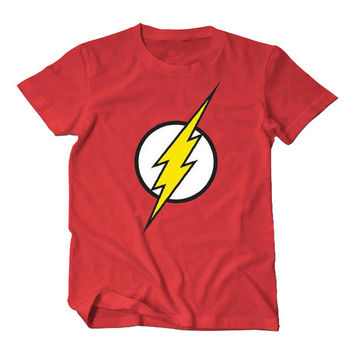 Flash Lightning Bolt Short Sleeve Cotton T-Shirt