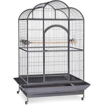BIRD - CAGES: LARGE BIRDS - MACAW DOME TOP CAGE 46X36X78 - SILVER 2/BOX - PREVUE PET PRODUCTS, INC - UPC: 48081031551 - DEPT: BIRD PRODUCTS