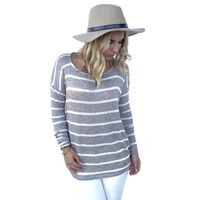 Sweet Stripes Of Mine Knit Blouse