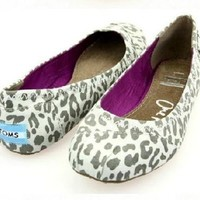 Toms ballet flat shoes / Leopard print Light / Size 6
