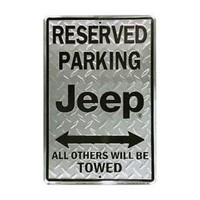 Reserved Parking Jeep Metal Sign JG-HAA60