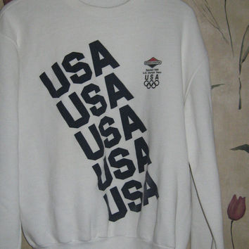 1980s USA  olympic sweatshirt  by MAJESTIC   sz large