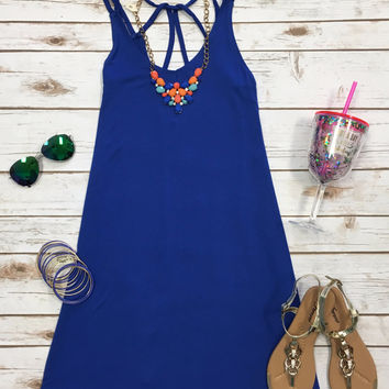 At My Best Tunic Dress: Royal Blue