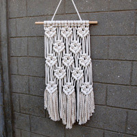 Gift for grandma Retro wall hanging Macrame wall decor Boho room decor Hippie tapestries Bohemian wall tapestries Woven wall hanging
