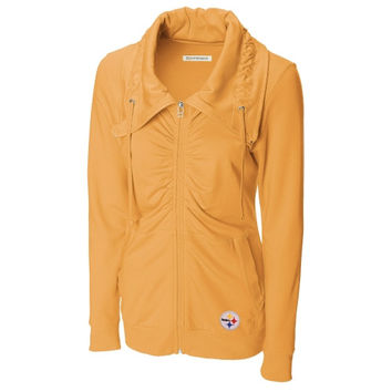 Pittsburgh Steelers Cutter & Buck Women's Squeeze Play French Terry Jacket – Gold