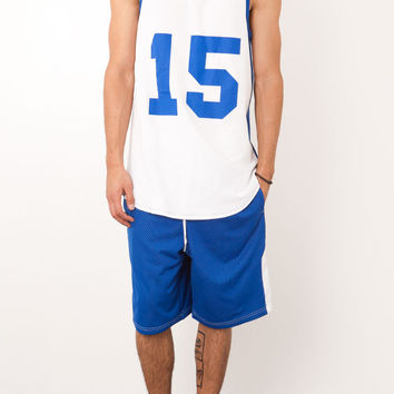 MESH CURVED HEM TALL BASKETBALL JERSEY