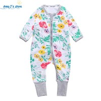New girl's clothing cotton kids one piece overalls pajamas newborn baby girl boys clothes suits