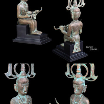 Bronze Sculpture From Tanah Toraja,Sulawesi,Indonesia.Tribal Toraja Wedding Bronze Statue Colectible Ethnographic Artwork Primitive Tribal
