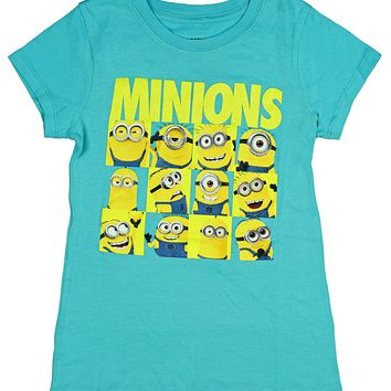 Despicable Me Little Girls' Character Grid T-Shirt