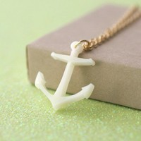 Handmade Gifts | Independent Design | Vintage Goods Nautical Anchor Necklace