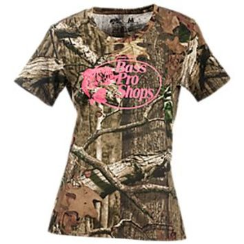Bass Pro Shops Neon Logo Camo T-Shirt for Ladies