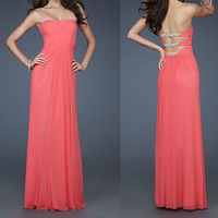 99USD Promotion!! Free Shipping! Sexy backless,Fashion Hand Weave Beading Formal Long Prom Dress, Women appare, Evening dresses, party dress
