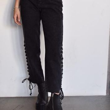 """Beat It"" Lace-Up Jeans"