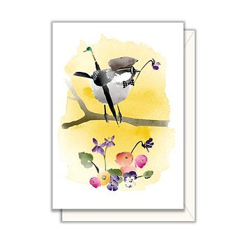 Dapper Chickadee Enclosure Card
