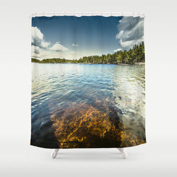 End of the road II Shower Curtain by HappyMelvin
