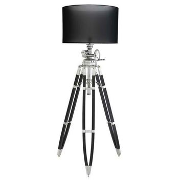 Black Tripod Floor Lamp | Eichholtz Royal Marine