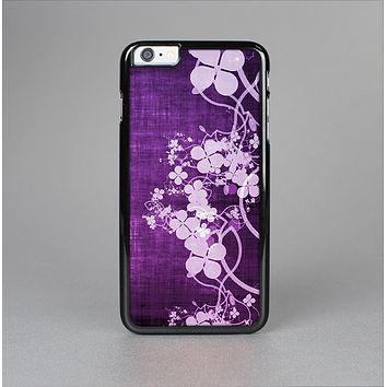 The Dark Purple with Sketched Floral Pattern Skin-Sert for the Apple iPhone 6 Skin-Sert Case