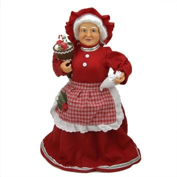 """17"""" Mrs. Claus Baking Sweets Christmas Tree Topper or Table Top Decoration"""