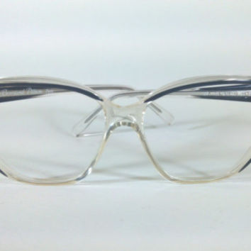 Bernard Pittion Paris Mod:BP 115 514-0, Vintage Bernard Pittion Paris Cat Eye Glasses, Original 70s Geometric Cat Eye made in France