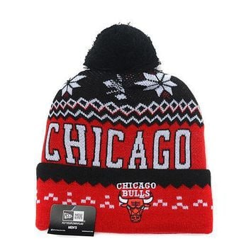 PEAPON Chicago Bulls Beanies New Era NBA Hats