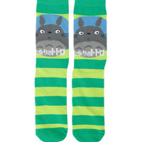 Studio Ghibli My Neighbor Totoro Green Stripe Crew Socks