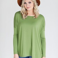 Kale PIKO Long Sleeve Top