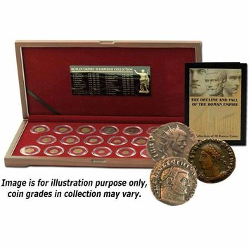 The Decline and Fall of the Roman Empire: 20 Bronze Coins of Ancient Rome