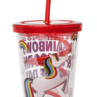 Rainbow Unicorn Curly Straw Cup