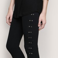 ROWAN LACE-UP LEGGINGS