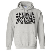 Nurse By Day Dog Lover By Night - Heavy Blend™ Hooded Sweatshirt