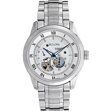 Bulova Mens BVA Series Automatic - White Dial - Stainless Steel