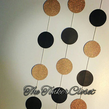 Circle garland, gold circle garland, gold decoration, wedding garland, new years party decoration, wedding decor, party decor, gold garland