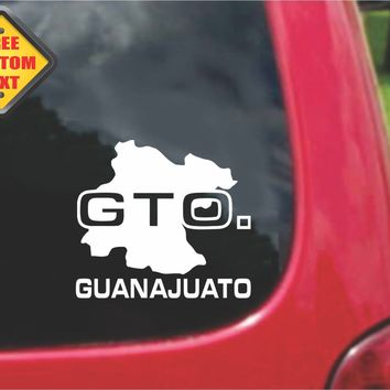 Guanajuato Mexico Outline Map Sticker Decal 20 Colors To Choose From.