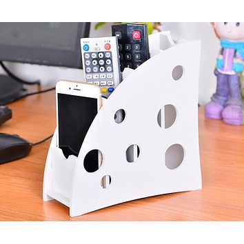 Urijk Wood-plastic Plate Remote DIY Household Organiser Stand Holder Durable Caddy Storage Couch DVD Box Home Office Accessories