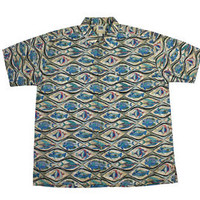 Vintage 90s All Over Fish Print Cotton Button Up Shirt Mens Size XL