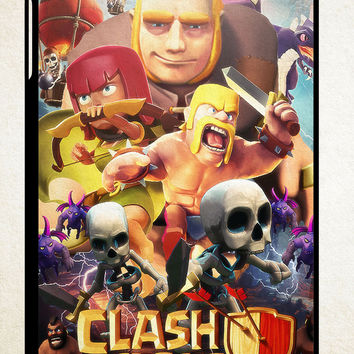 Clash Of Clans Movie Z0154 iPad 2 3 4, iPad Mini 1 2 3, iPad Air 1 2 , Galaxy Tab 1 2 3, Galaxy Note 8.0 Cases