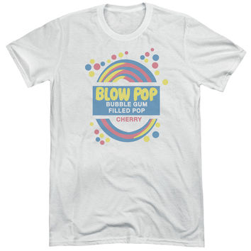 Tootsie Blow Pop Label Adult Soft Tri Blend T-Shirt