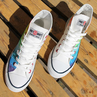 Colorful canvas shoes