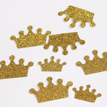 Gold glitter crown cupcake toppers 1st girl birthday custom wedding Food Picks baby bridal shower Decor Decorations 150