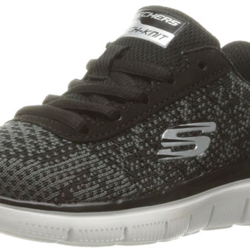 Skechers Kids Boys Flex Advantage 2.0 Golden Point Sneaker Black/Charcoal Little Kid (4-8 Years) 2 M US Little Kid '