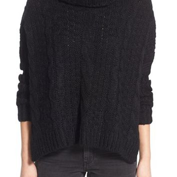 Dreamers by Debut Cable Knit Turtleneck Sweater | Nordstrom