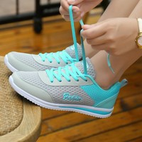 2018 Women Running Shoes Height Increasing Jogging Sports summer Light Shoes Platform Health Weight Women Breathable Sneakers
