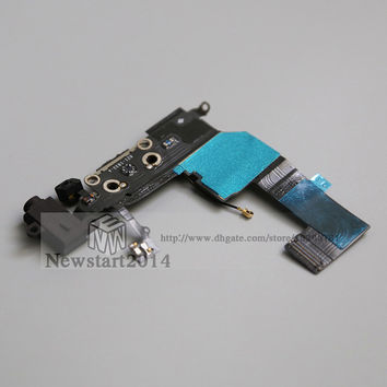 For iPhone 5C Charger Dock Connector USB Charging Port Connector Flex Cable with Headphone Earphone Jack Audio Flex
